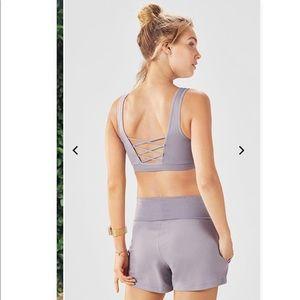 NWT Fabletics Gilda Sports Bra & Shorts 2-piece